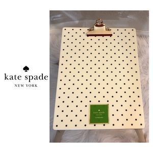NWT Kate Spade ♠️ Engraved Clip W/ Dots Clipboard